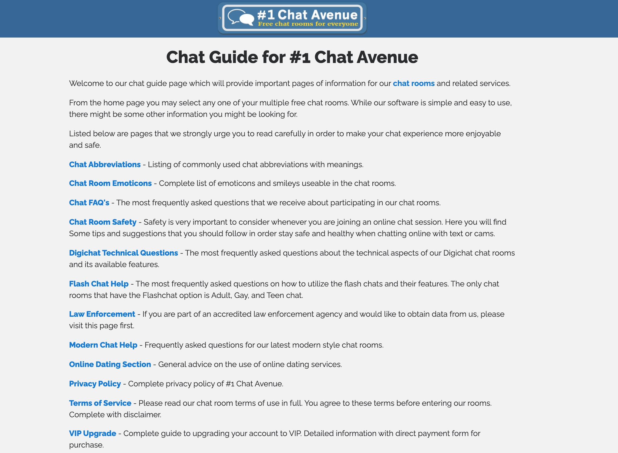 Chat-Avenue guide