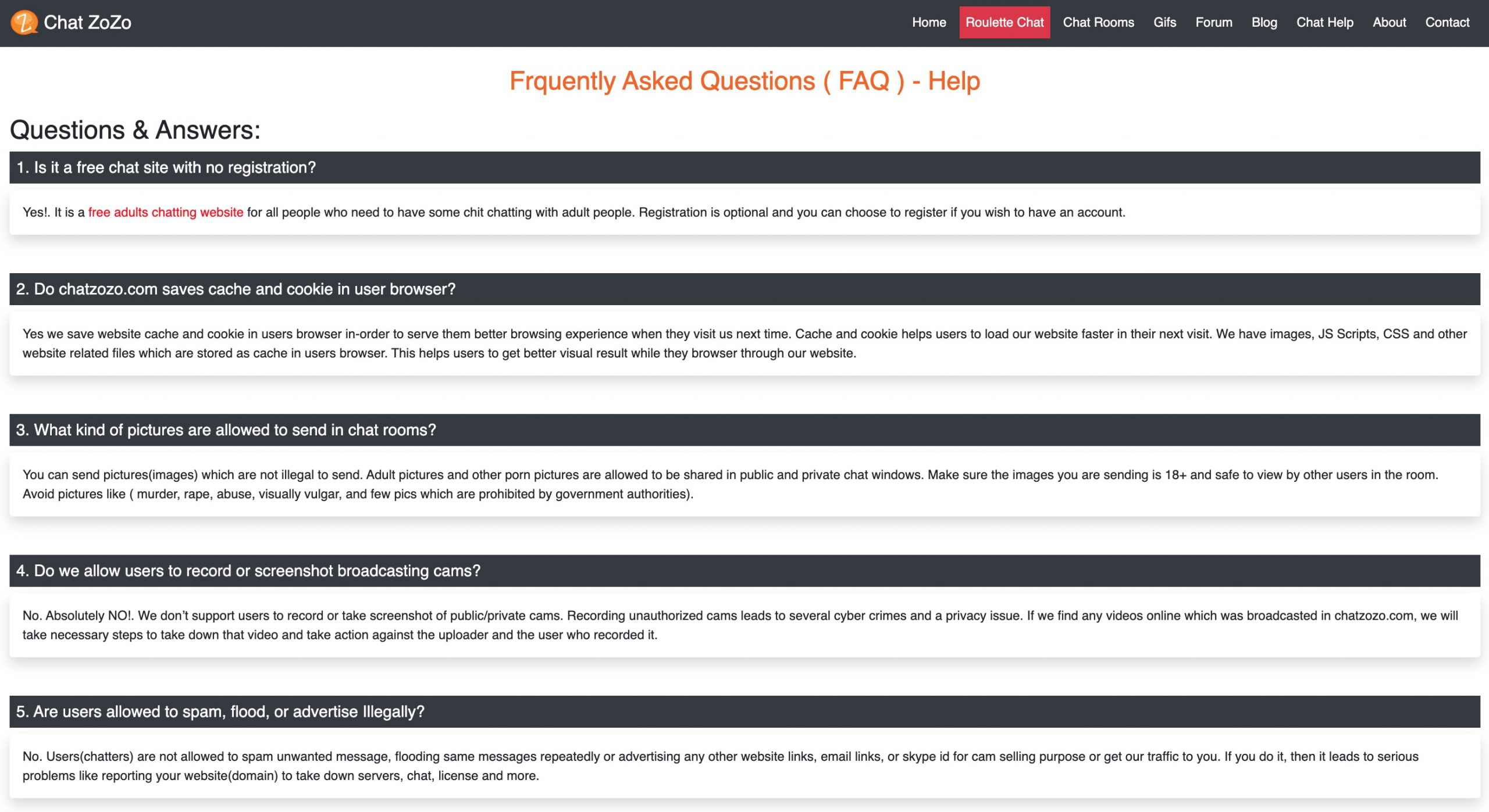 ChatZozo FAQ