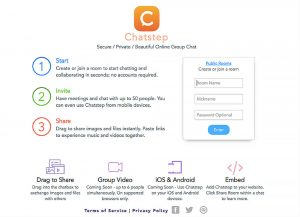 Chatstep main page