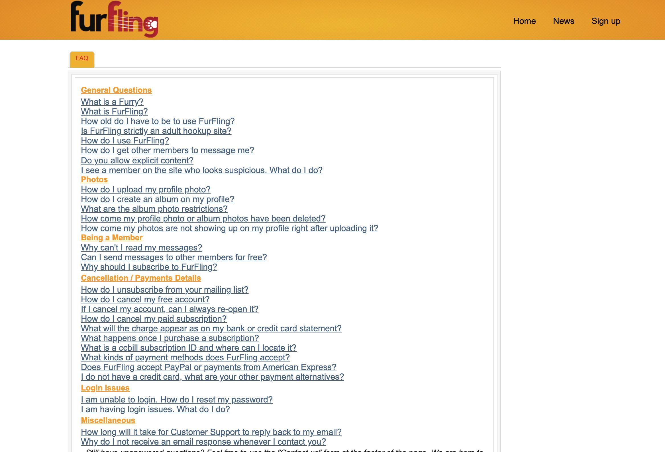 FurFling FAQ