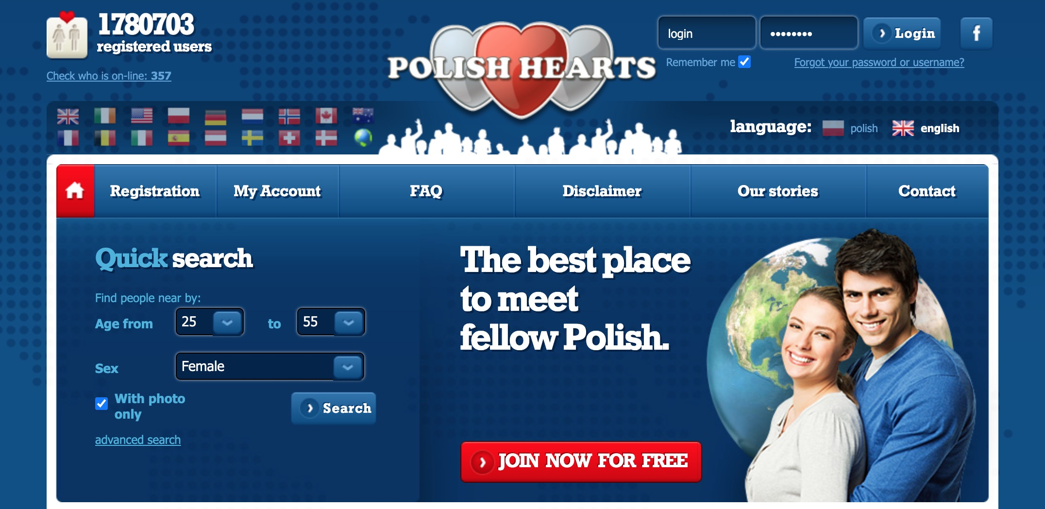 PolishHearts main page