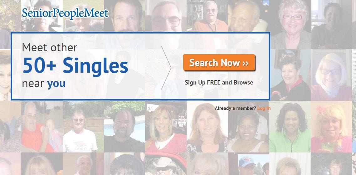 SeniorPeopleMeet main page