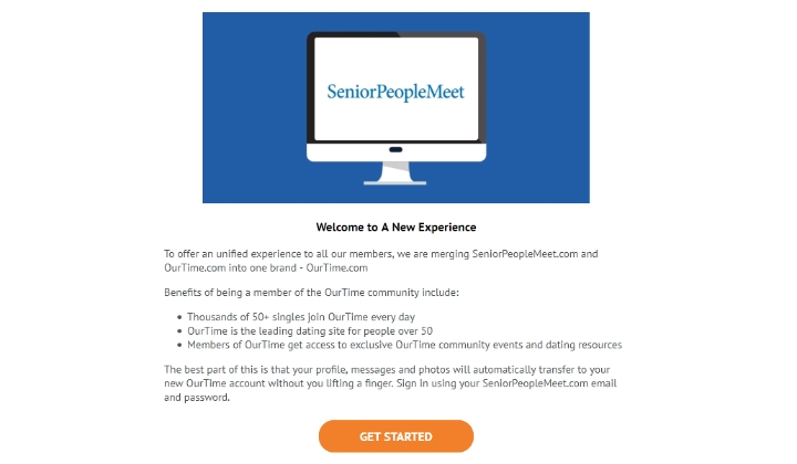 SeniorPeopleMeet merged with Onetime