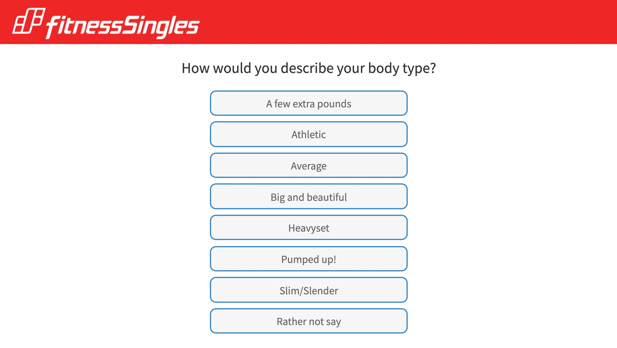 fitness singles question